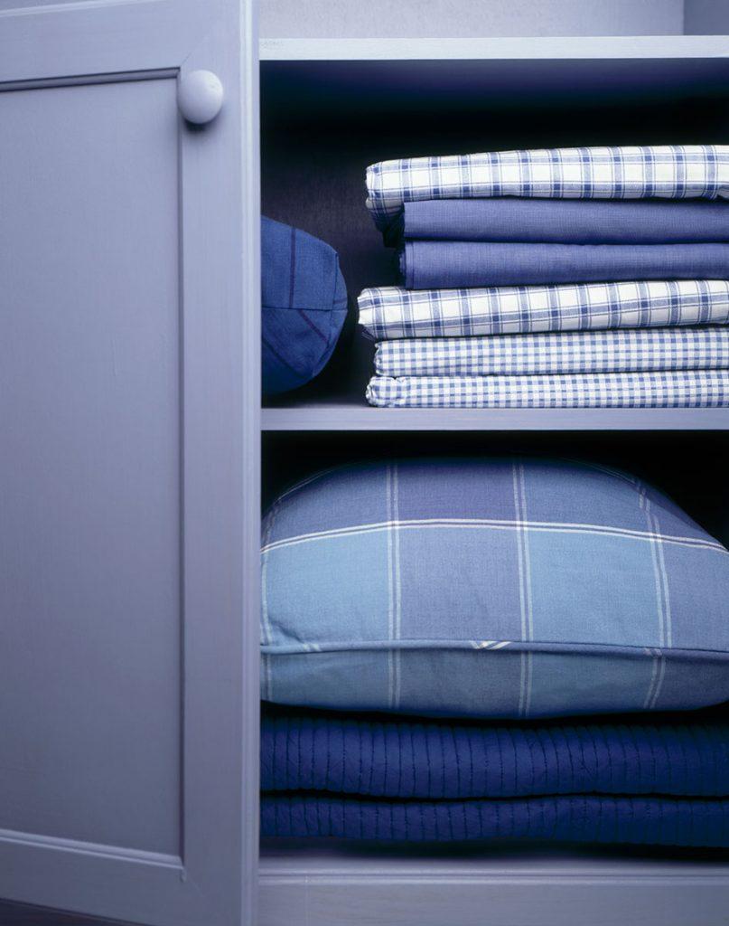 Linen Closet by a professional organizer